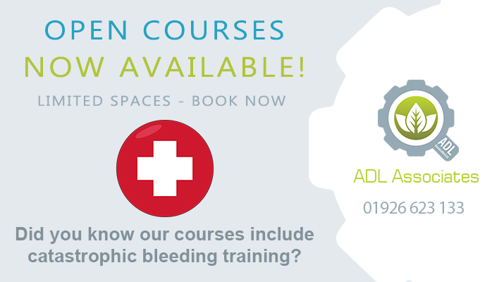 tourniquet training and catastrophic bleeding is now included in QualSafe Emergency First Aid At Work Courses