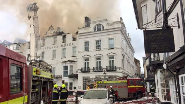 The Royal Clarence Hotel Fire