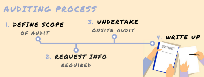 process for undertaking an audit, to use along with a health and safety audit template