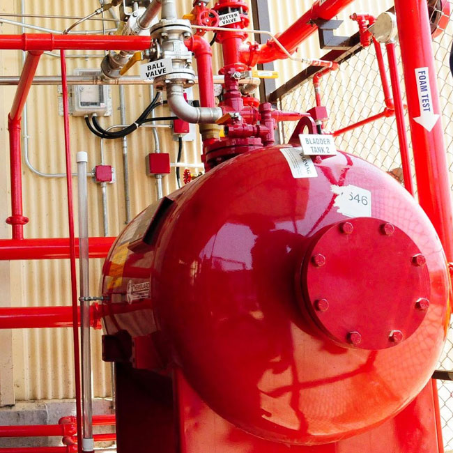 active fire protection - compressed air foam