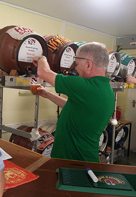 event safety management - Harbury Beer Festival, pouring a glass